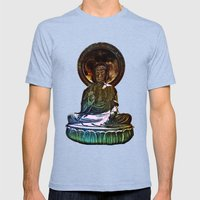 Buddah - San Francisco J… Mens Fitted Tee Tri-Blue SMALL