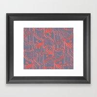 1982 Red Framed Art Print
