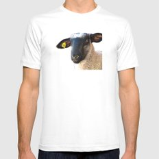 Lamb #0487 White SMALL Mens Fitted Tee