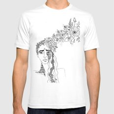 bloom SMALL White Mens Fitted Tee