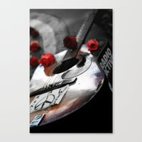Guitar Strawberry Fields NYC Canvas Print