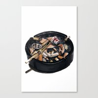writer's ashtray Canvas Print