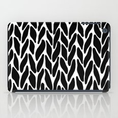 Hand Knitted Black on White iPad Case