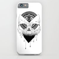 iPhone & iPod Case featuring Enigmatic Skull by MR FOUR FINGERS