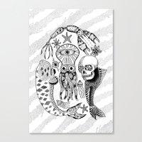Sea Creatures Canvas Print