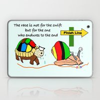 THE RACE - the turtle and the snail Laptop & iPad Skin