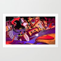 Hip Hop City Art Print