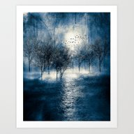 Paisaje Y Color (azul) Art Print