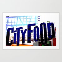 City Food Art Print
