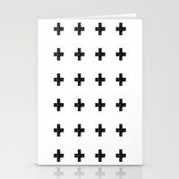 Watercolor Swiss Cross (White) Stationery Cards