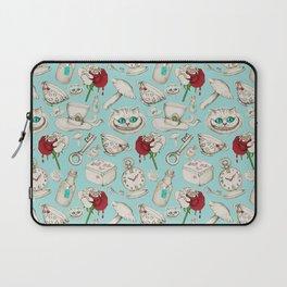 Laptop Sleeve - Wear to Wonderland – Stone on Aqua - micklyn