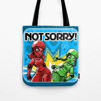 Not Sorry Roller Derby Art by RonkyTonk Tote Bag