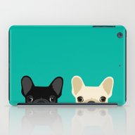 2 French Bulldogs iPad Case