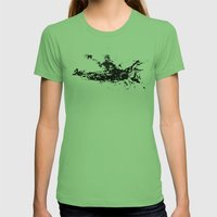 Kayaker in the Fog Womens Fitted Tee Grass SMALL