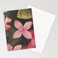 Magenta Flowers Stationery Cards