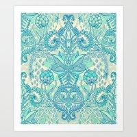 Botanical Geometry - Nat… Art Print