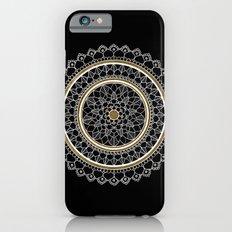 Black and Gold Mandala Slim Case iPhone 6s