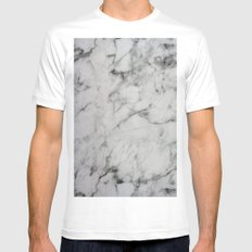 Marble White Mens Fitted Tee SMALL
