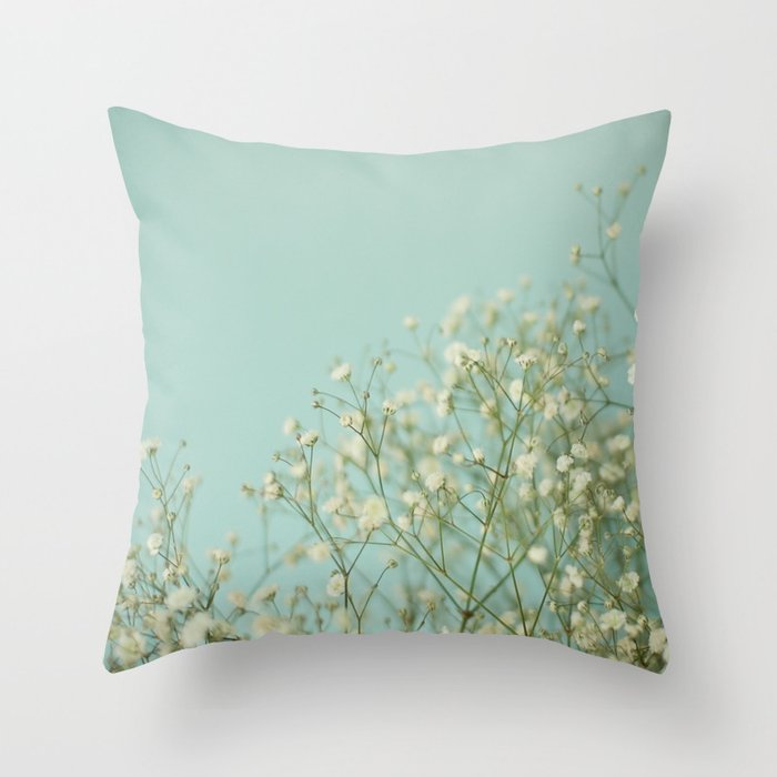 Baby Blue Decorative Pillow : Baby Blue Throw Pillow by Cassia Beck Society6