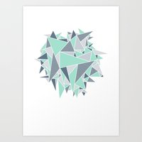 EXPLOSION-TRIANGLE Art Print