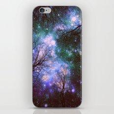 Black Trees Purple Green Space iPhone & iPod Skin