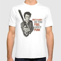 Dirty Harry Mens Fitted Tee White SMALL