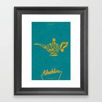 Aladdin Fan Poster Framed Art Print