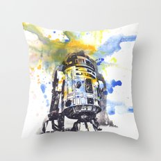 R2D2 from Star Wars Throw Pillow