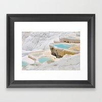 pamukkale turkey Framed Art Print