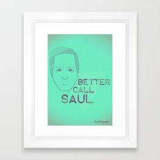 Breaking Bad - Faces - Saul Framed Art Print