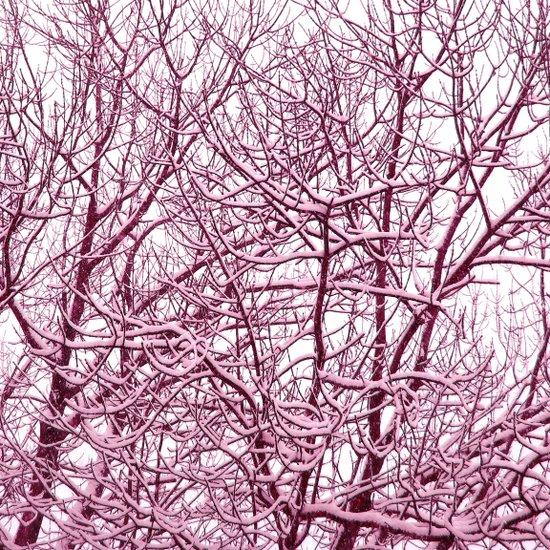 purple winter tree I Art Print