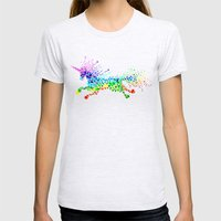 Unicorn - Licorne - Unic… Womens Fitted Tee Ash Grey SMALL