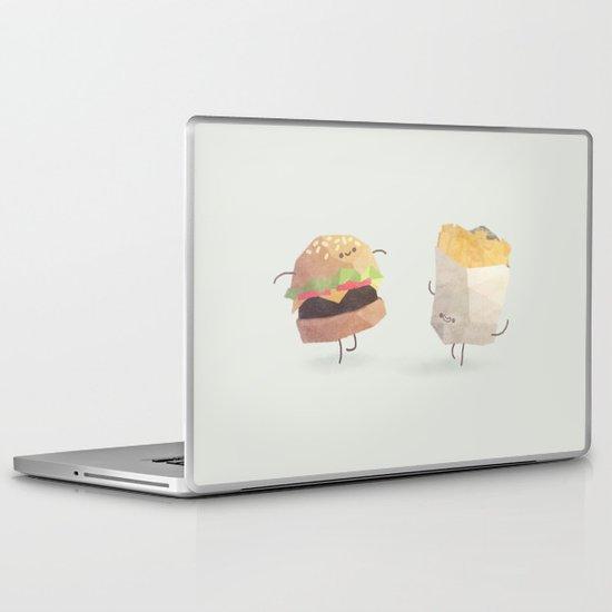 Burger and fries Laptop & iPad Skin