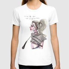 Perfect Illusion Womens Fitted Tee White SMALL