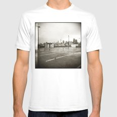 { rain dance } White Mens Fitted Tee SMALL