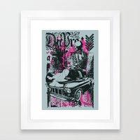 Pin up Car Framed Art Print