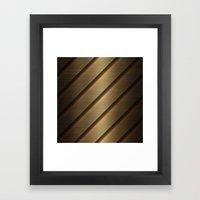 Copper Brass Metal Pipe Framed Art Print