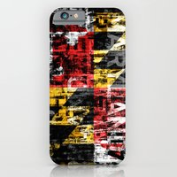 Maryland Flag Print iPhone 6 Slim Case