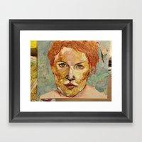Map self portrait Framed Art Print