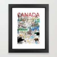 Canada (portrait Version… Framed Art Print