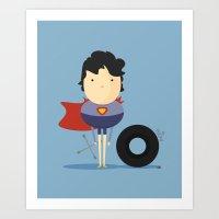My Super Hero! Art Print