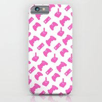 Gamer  - Pink on White iPhone 6 Slim Case