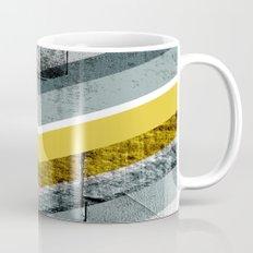 Grey & Yellow Chevron Mug