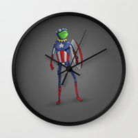 Captain Kermit Wall Clock