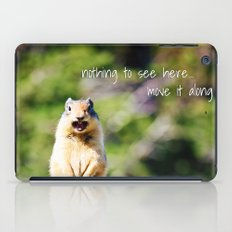Angry Squirrel Has A Friend iPad Case