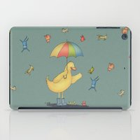 It's raining cats and dogs iPad Case