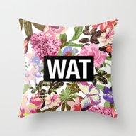 WAT Throw Pillow