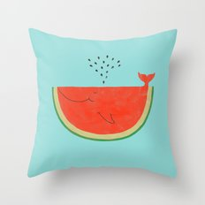 Don't let the seed stop you from enjoying the watermelon Throw Pillow