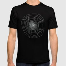 Vortex - A badly drawn vortex - Inverted Mens Fitted Tee Black SMALL