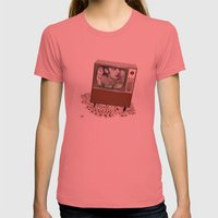 A antirosa atômica Womens Fitted Tee Pomegranate SMALL